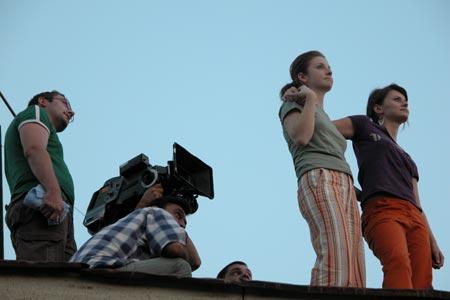 Filmare pe acoperis